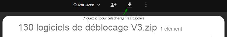 130 logiciels de déblocage screenshot