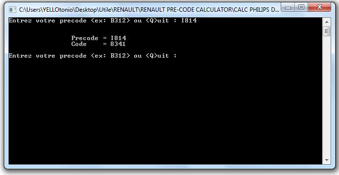 renault precode calcule code