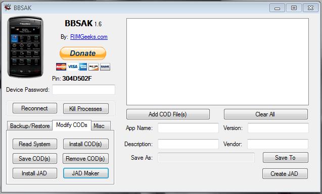 logiciel pour flasher blackberry