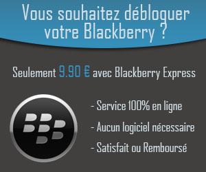 Site sérieux de déblocage Blackberry instantané !