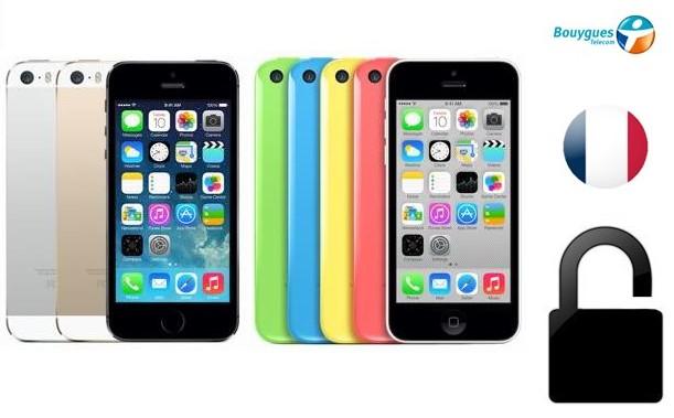 Déblocage officiel iPhone 5C, 5S, 6 et 6+ Bouygues Telecom pour 29€ seulement