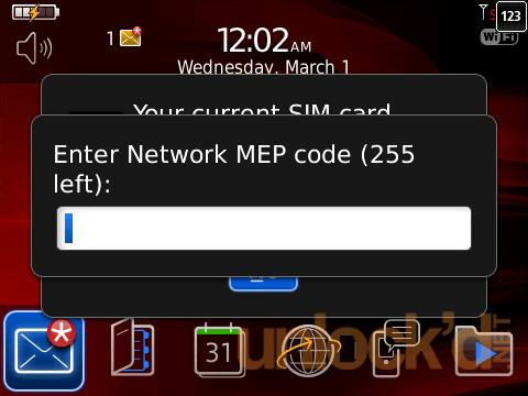 Entrer un code de déblocage pour un mobile ou une clé 3G