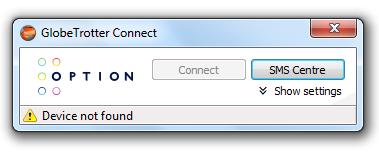 Logiciel de connexion 3G Option GlobeTrotter