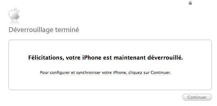 iPhone désimlocké