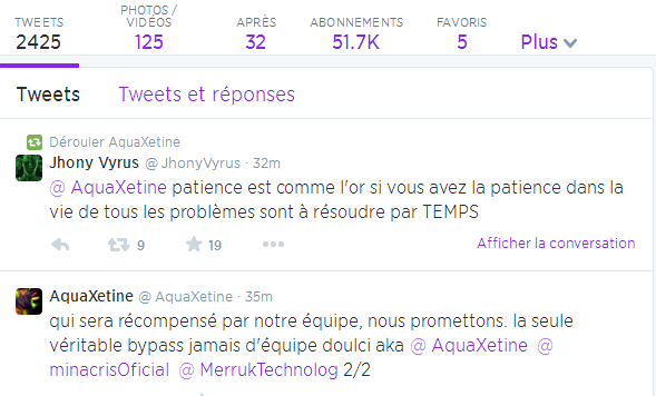 Aquaxetine twitter