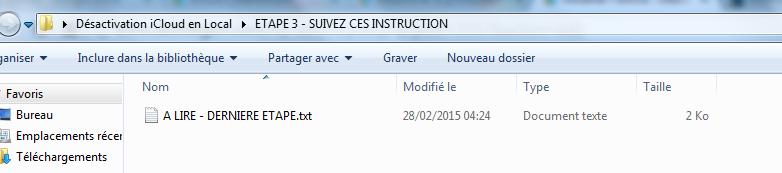 déblocage iCloud étape 17