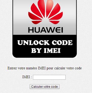 huawei unlock online