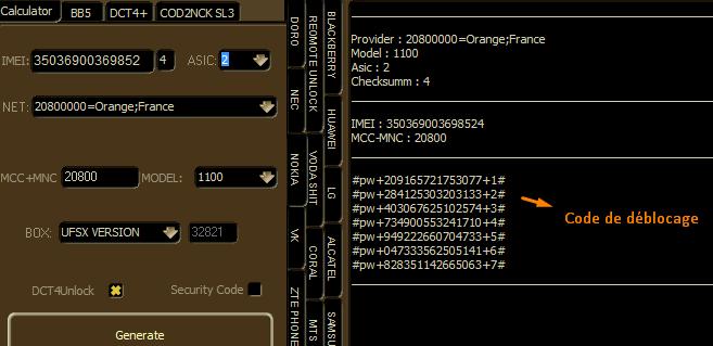 code de déblocage Nokia DCT4 UAT 2014