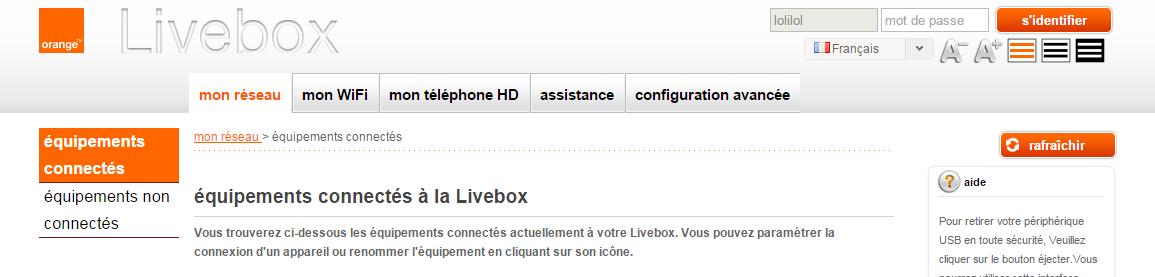 livebox config