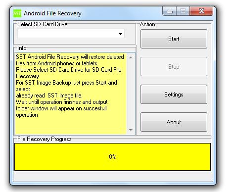 SST Android Suite pour récupérer vos données (téléphone et micro SD)