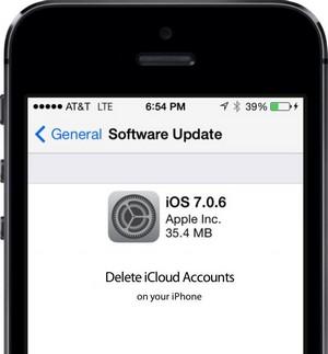 Effacer un compte iCloud sur iPhone 5, 5S, 5C avec une faille sur iOS 7.0.6