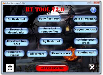 RT Tool 2.0 pour le flashage et le déblocage de smartphone (11 logiciels)