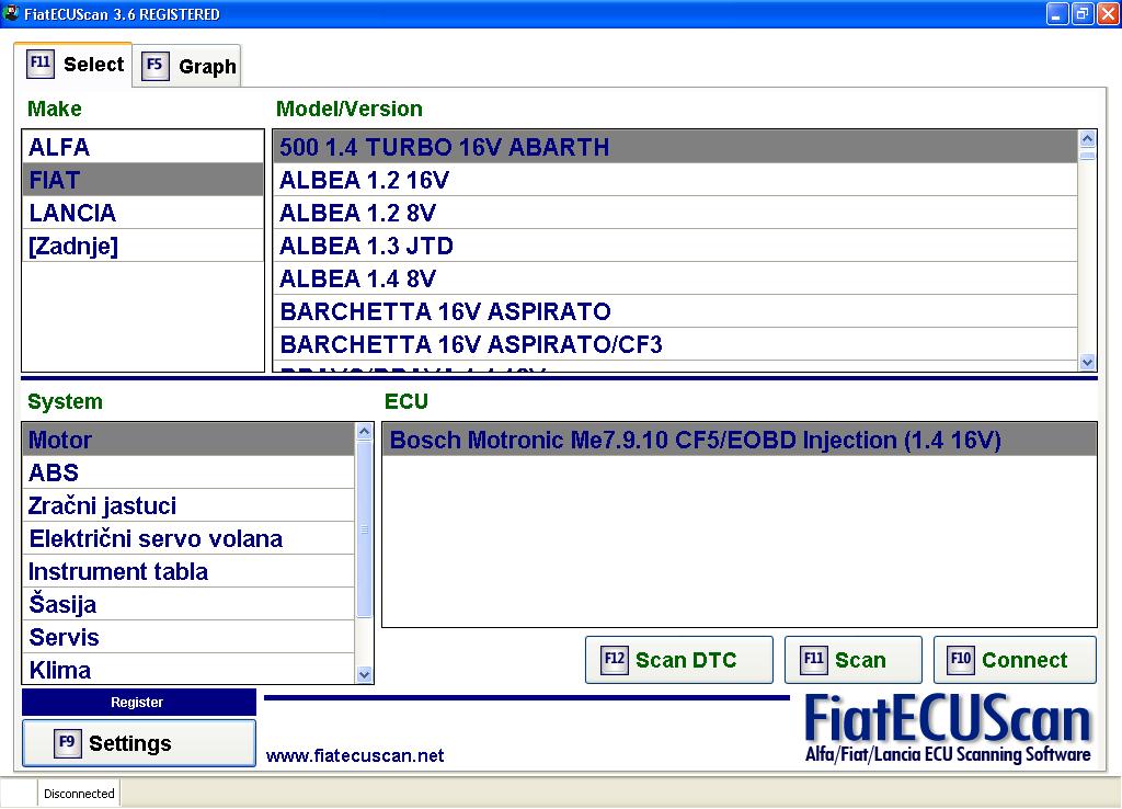 logiciel de diagnostic fiat alfa et lancia fiatecuscan 2 5 deblokgsm. Black Bedroom Furniture Sets. Home Design Ideas